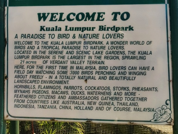 Review 2019- KL Bird Park | Live Life Lah